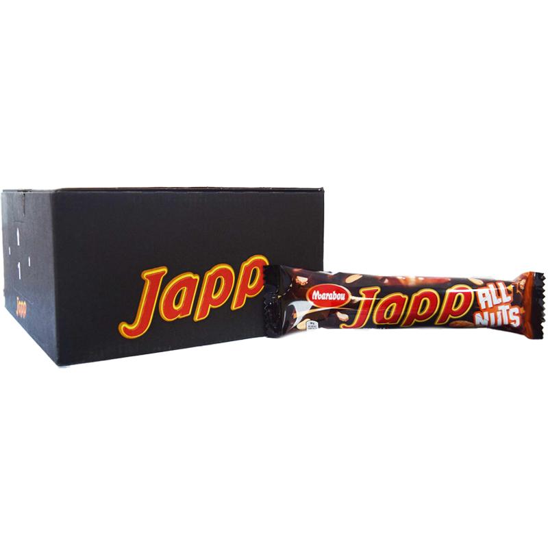 """Hel Låda Japp """"All Nuts"""" 20 x 60g - 97% rabatt"""