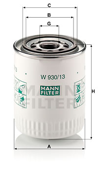 Öljynsuodatin MANN-FILTER W 930/13