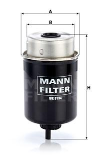 Polttoainesuodatin MANN-FILTER WK 8194