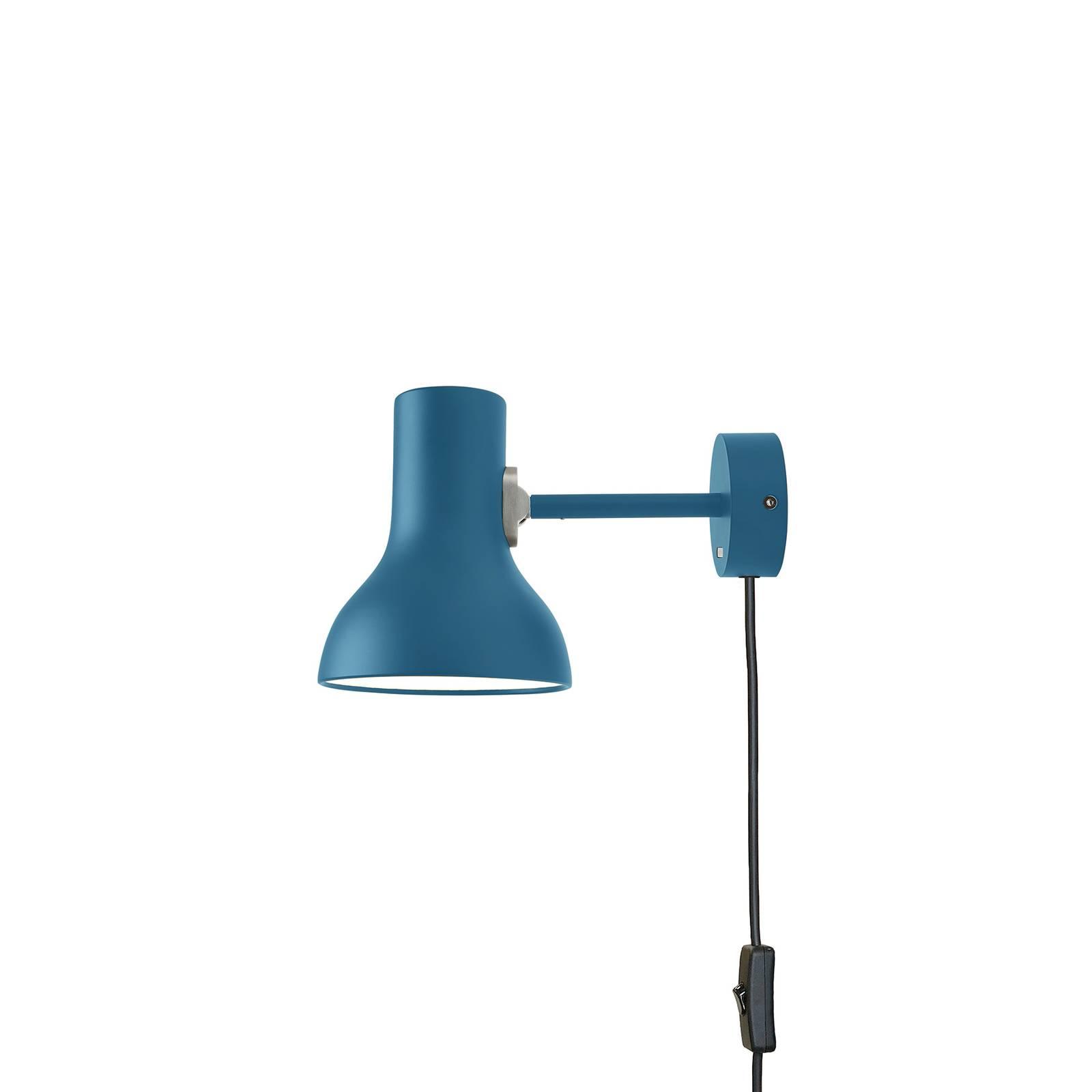 Anglepoise Type 75 Mini -seinälamppu, sininen