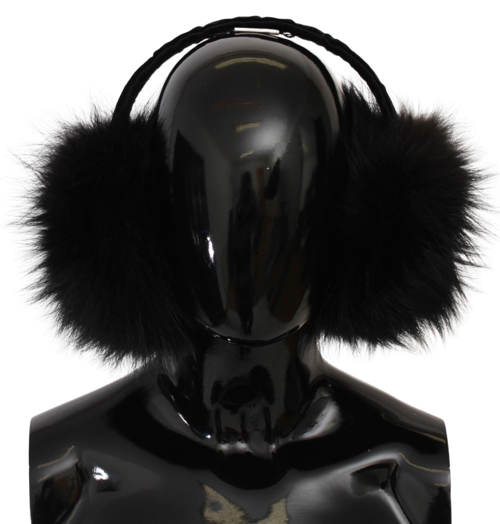 Dolce & Gabbana Women's Fur Winter Warmer Hat Black HAT20032
