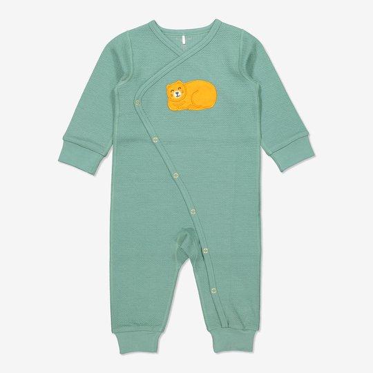 Omslagsdress baby grønn