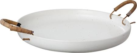 Bricka i keramik med handtag - 35 cm