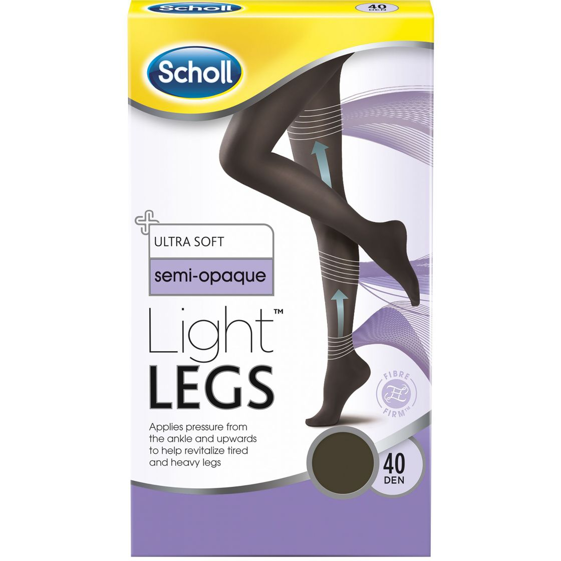 Scholl Light Legs Black 40 DEN Strl M