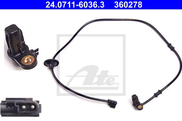 ABS-anturi ATE 24.0711-6036.3
