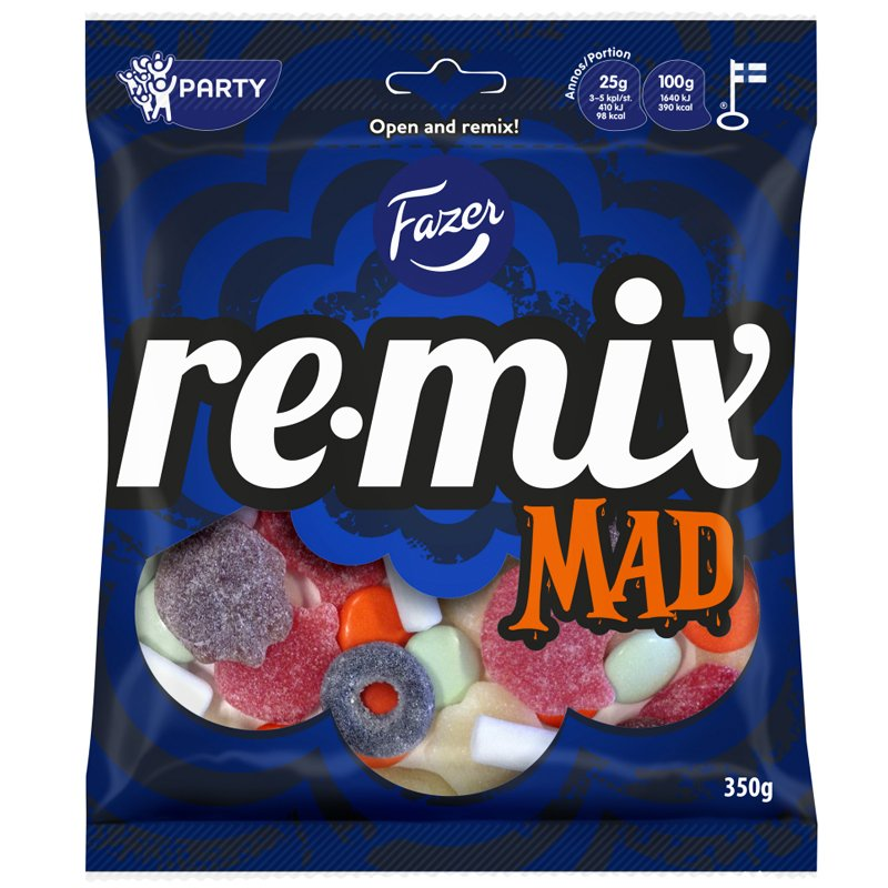 """Godis """"Remix Mad"""" 350g - 41% rabatt"""