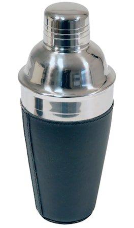 Shaker rustfritt i svart kunstlær rommer 5.0 dl