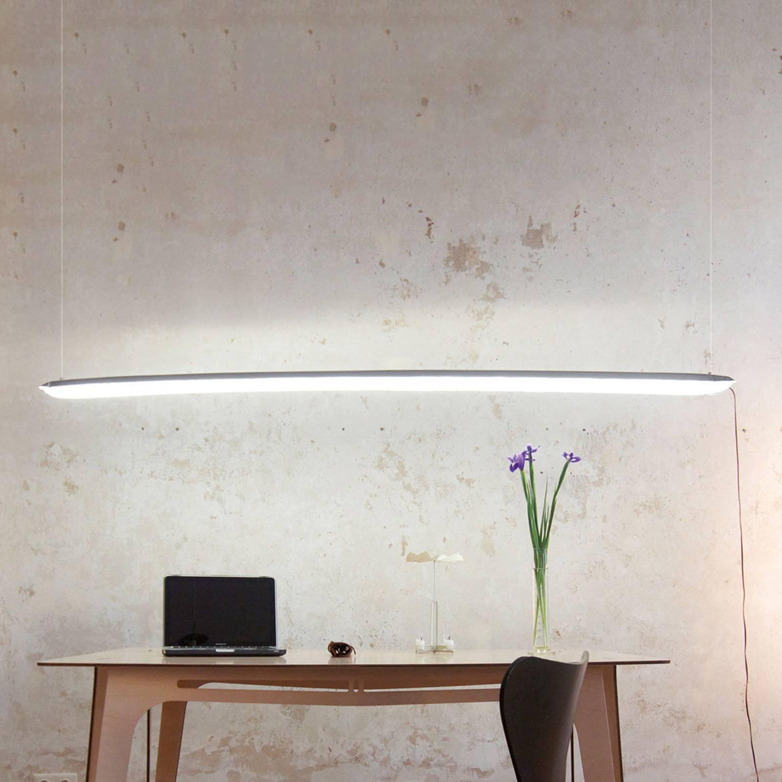 Ingo Maurer Blow me up -LED-valaisin 180 cm hopea