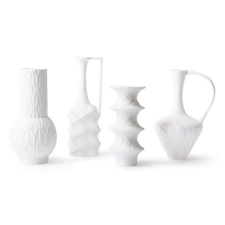 Matt White porcelain Vaser (set of 4)
