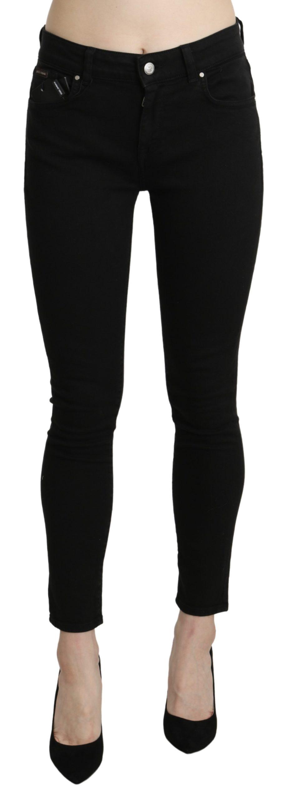Black Skinny Cotton Stretch Jeans - IT40 S