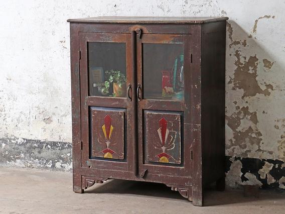 Art Deco Freestanding Cabinet Brown