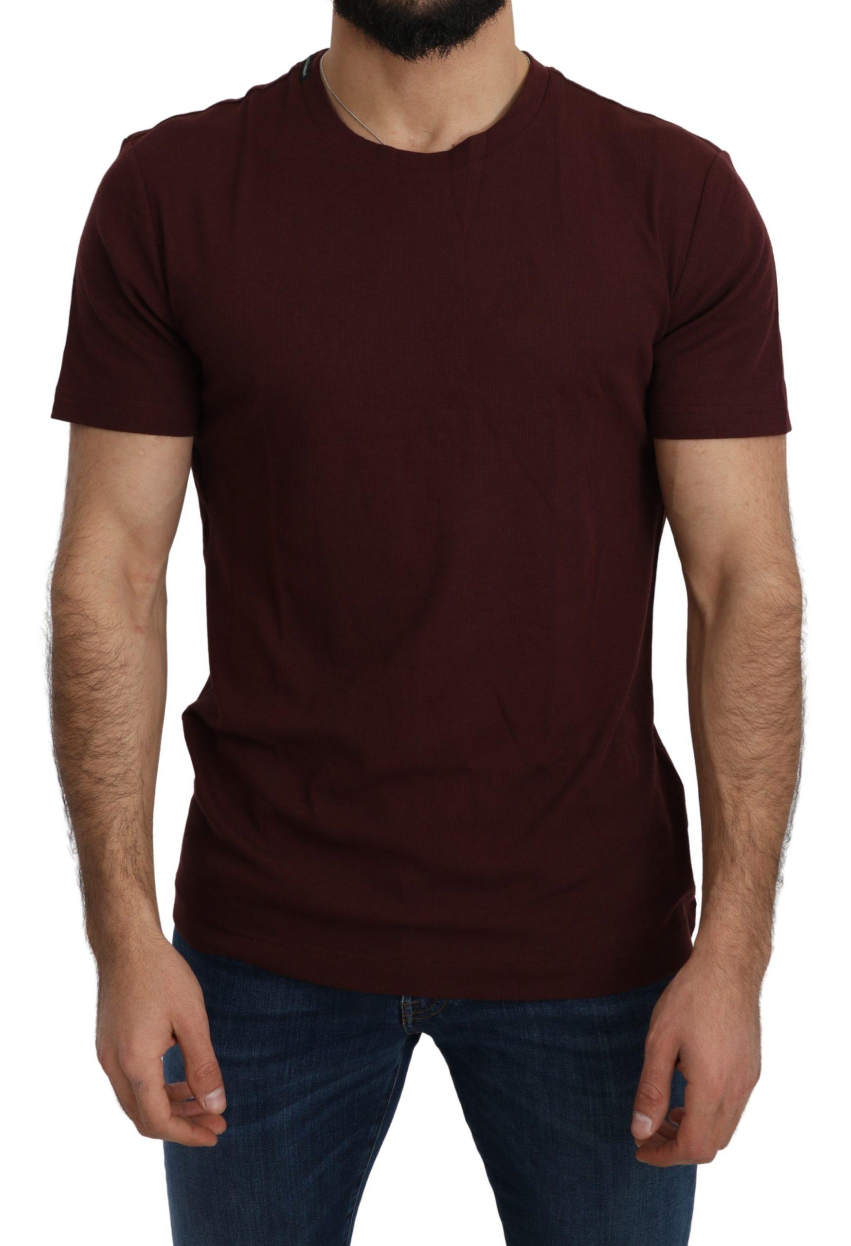 Dolce & Gabbana Men's Slim Fitting Cotton T-Shirt Red TSH5212 - IT46   S