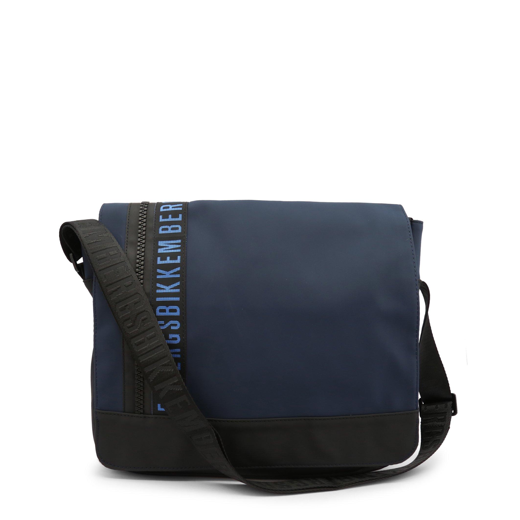 Bikkembergs Men's Briefcase Black E2BPME170042 - blue NOSIZE