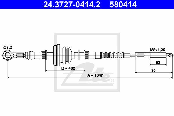 Käsijarruvaijeri ATE 24.3727-0414.2