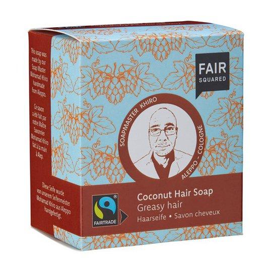 Fair Squared Coconut Hair Soap Greasy Hair, 2 x 80 g