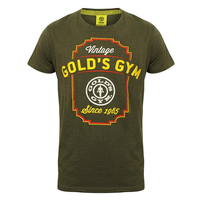 Gold's Gym Vintage Printed T-shirt, Army Marl