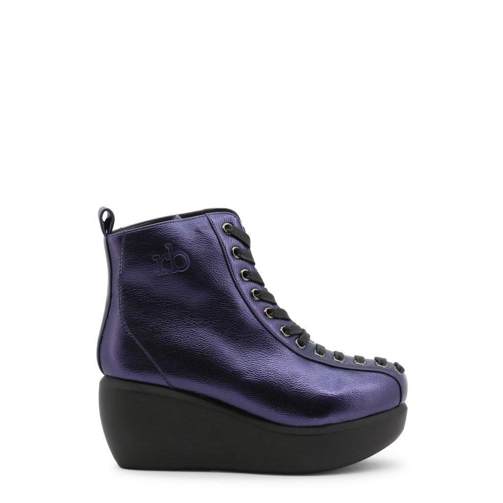 Roccobarocco Women's Ankle Boots Blue 342961 - blue EU 37