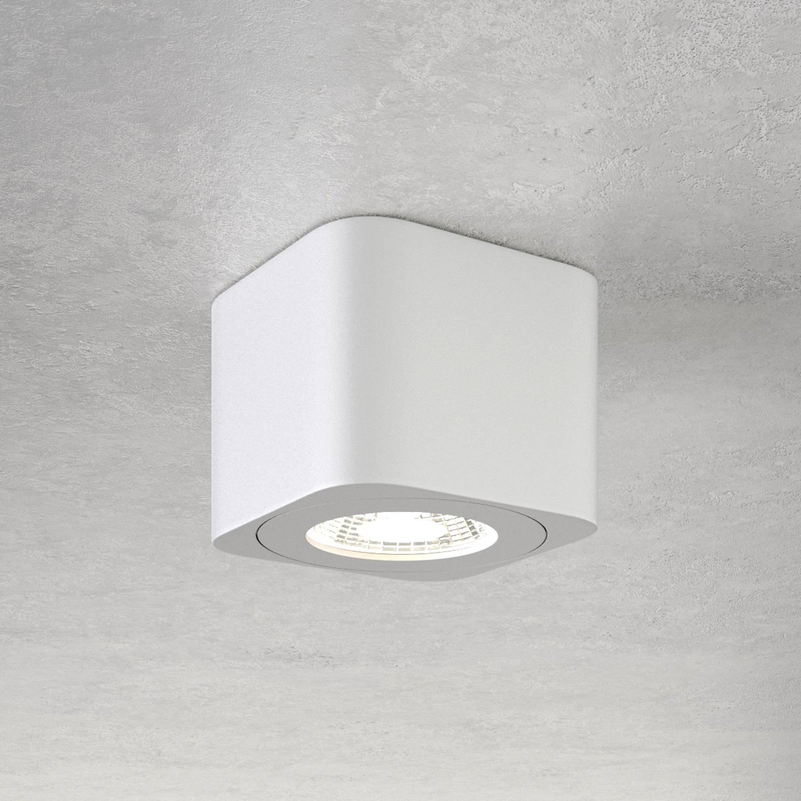 Firkantet LED-downlight Palmi i hvitt