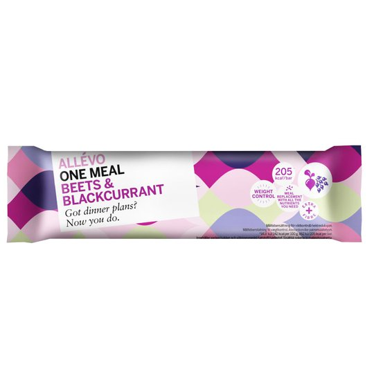 """Målersättningsbar Protein """"Beets & Blackcurrant"""" 60g - 33% rabatt"""