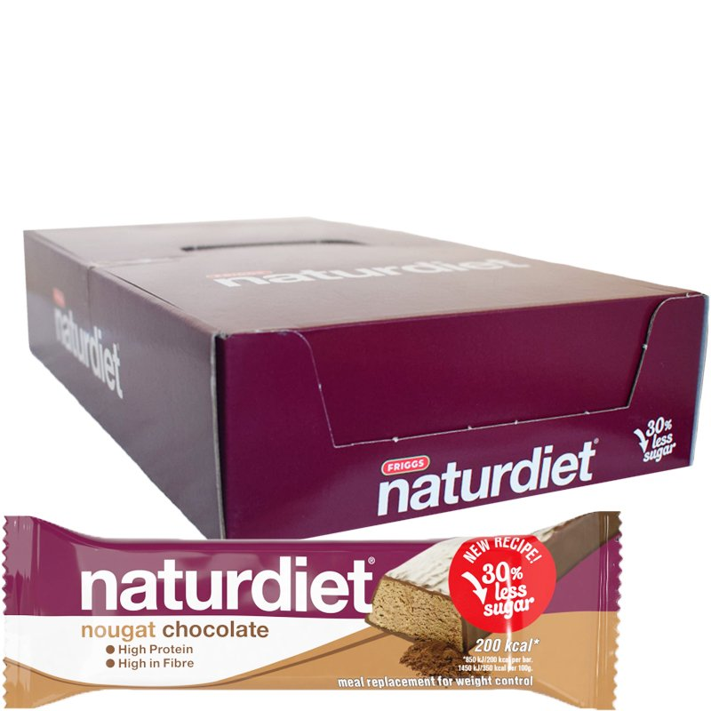 Laatikollinen Ateriankorvikepatukoita Nougat Chocolate 18kpl - 43% alennus