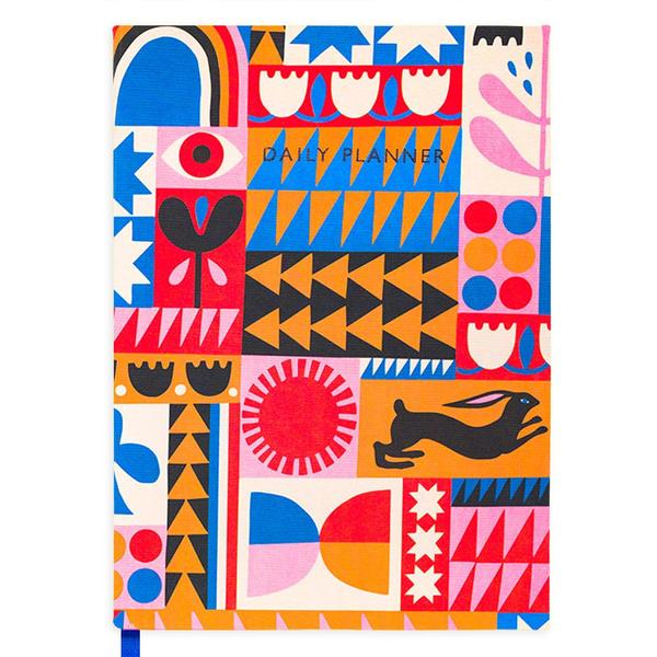 Abstract Patchwork Daily Journal