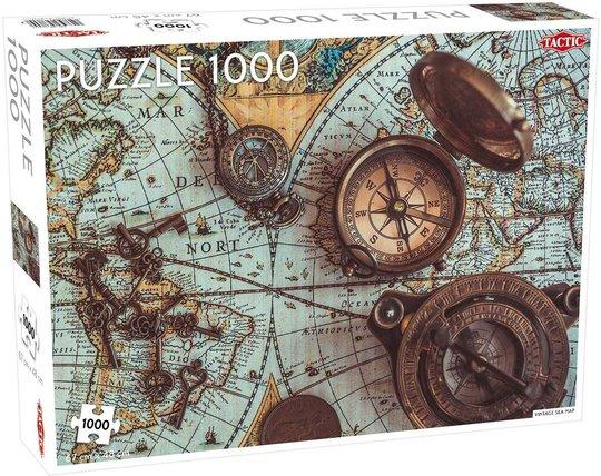Tactic Puslespill Vintage Sea Map 1000 brikker