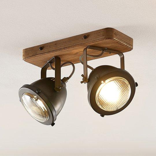 Lindby Shila kohdekattovalaisin, 2-lamppuinen