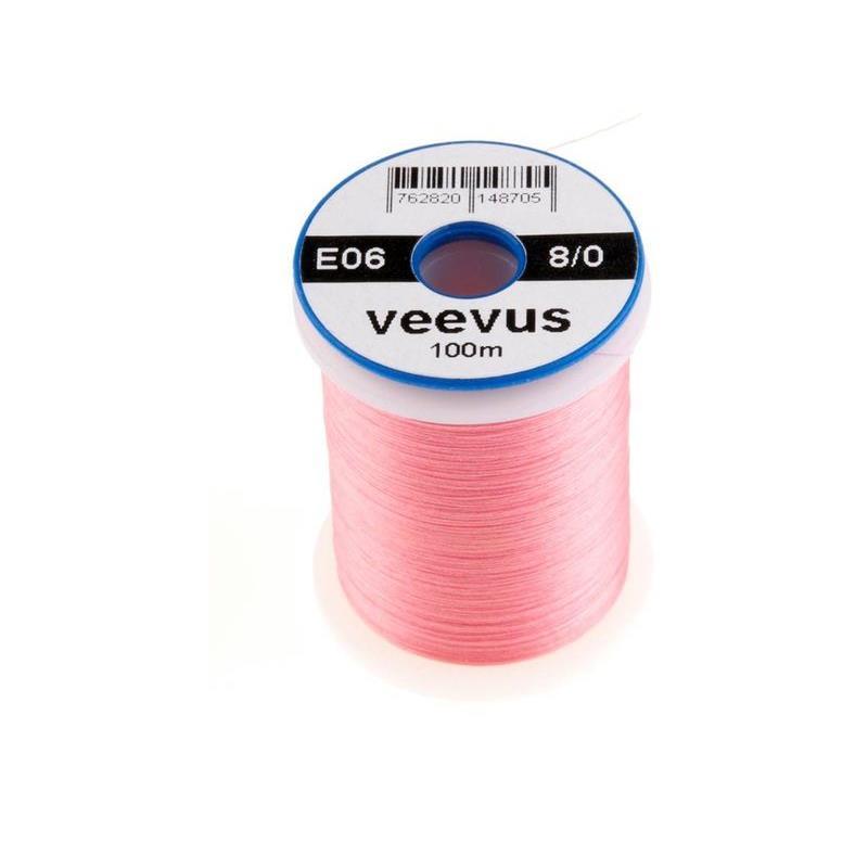 Veevus bindetråd 8/0 - Pink Råsterk, lett å splitte