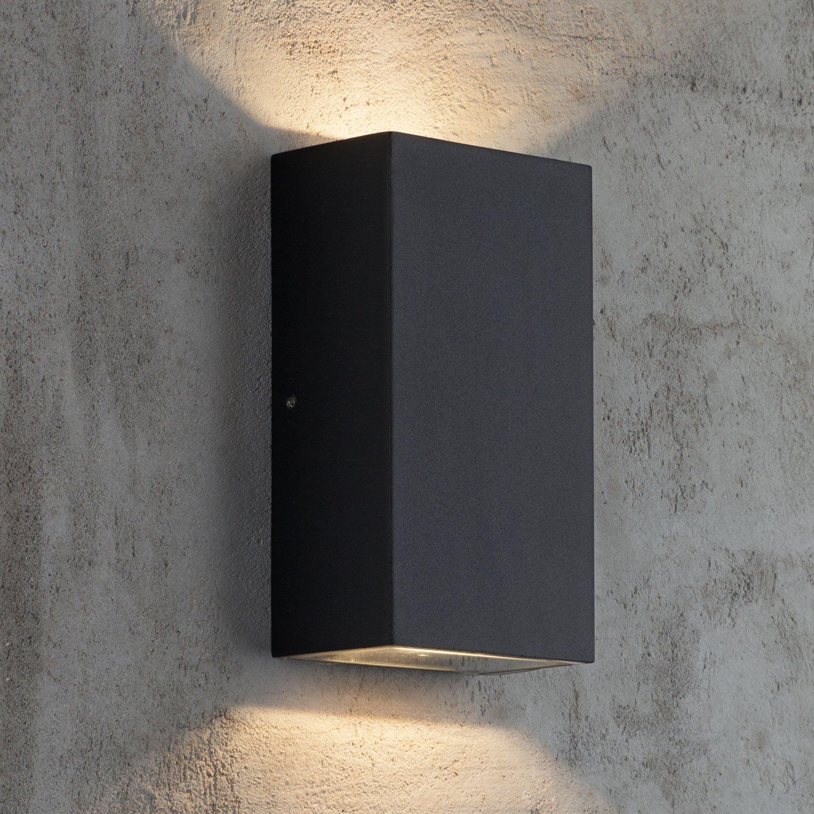 Utendørs LED-vegglampe Rold, kantet form