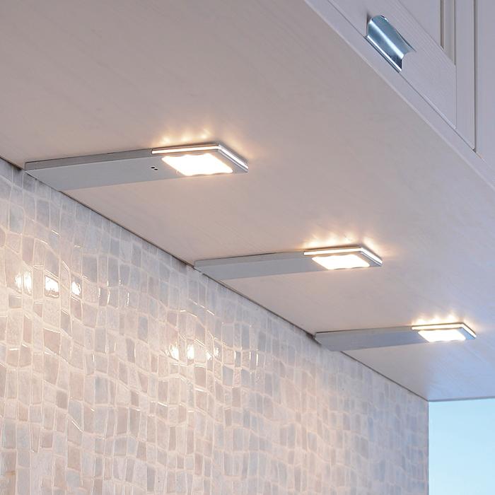 Helena-LED-kaapinalusvalo, anturi, 6,6 cm 3 kpl