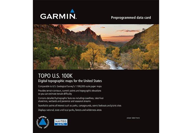 Garmin TOPO U.S. 100K Garmin microSD™/SD™ card