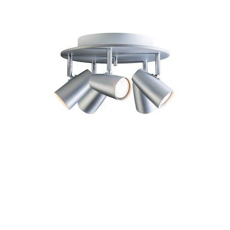 Dex spot 5-spot Sølvoksidert sirkelformet