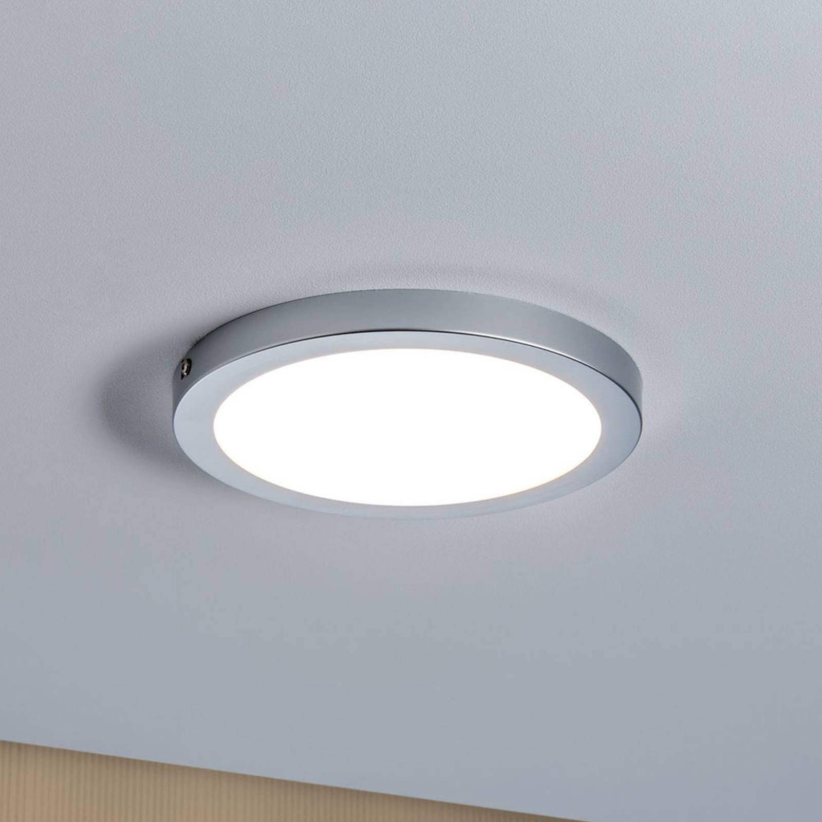 Paulmann Atria -LED-kattovalaisin Ø 22cm kromi