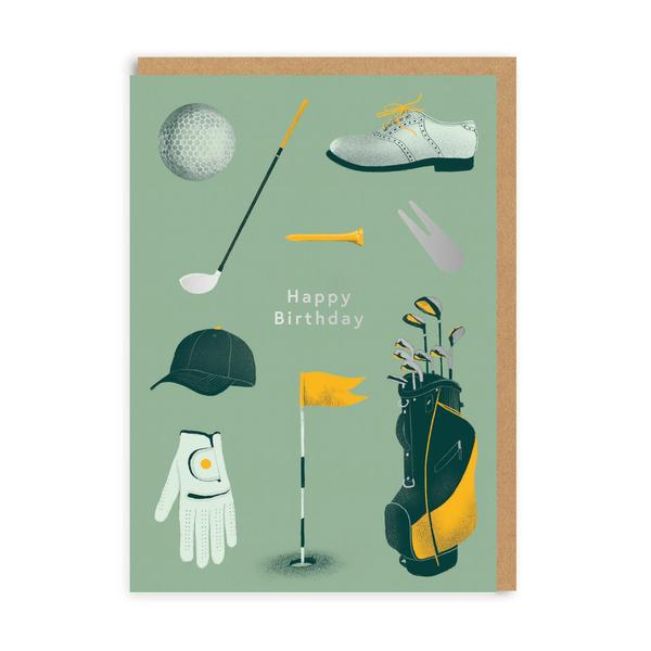 Happy Birthday Golf Greeting Card