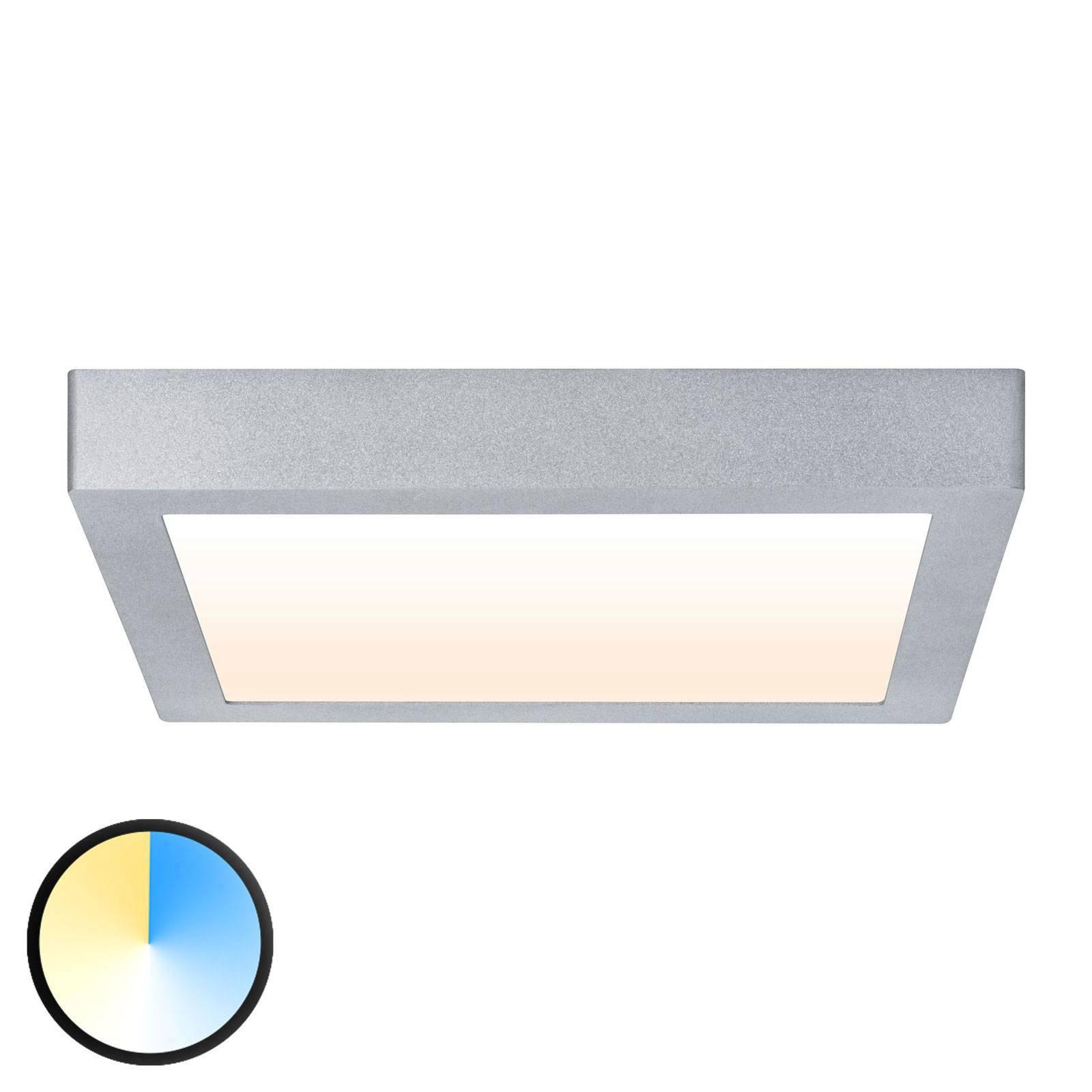 Paulmann Carpo LED-taklampe krom 30x30 cm