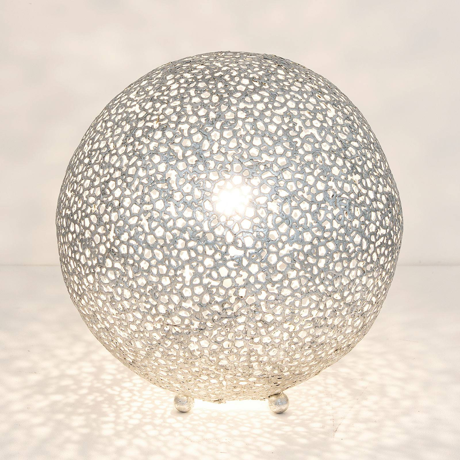 Pöytävalaisin Lily Grande, Ø 43 cm, hopea