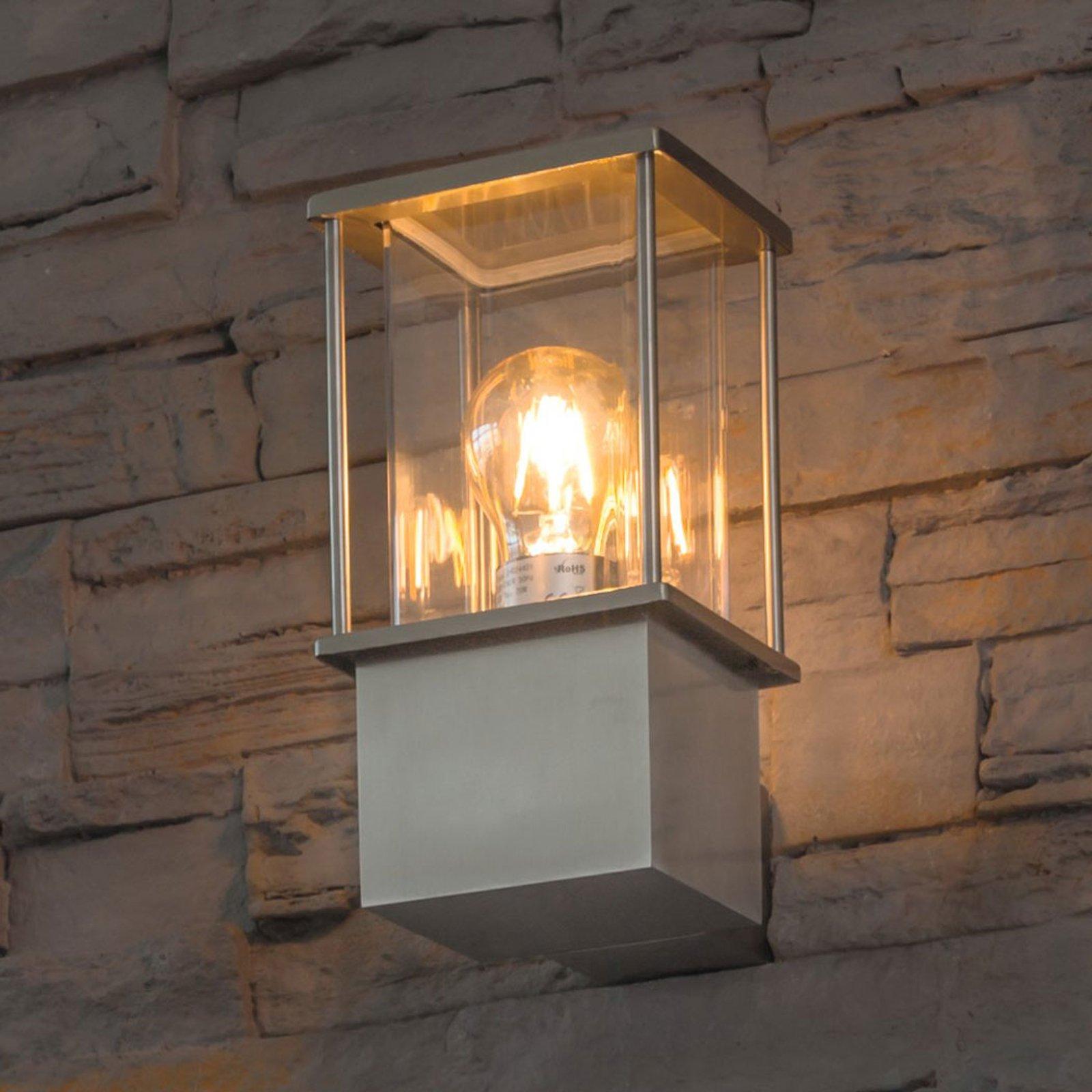 Vegglampe av rustfritt stål Rhodos