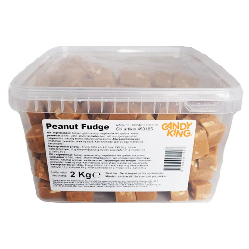 "Hel Låda Godis Fudge ""Peanut"" 2kg - 61% rabatt"