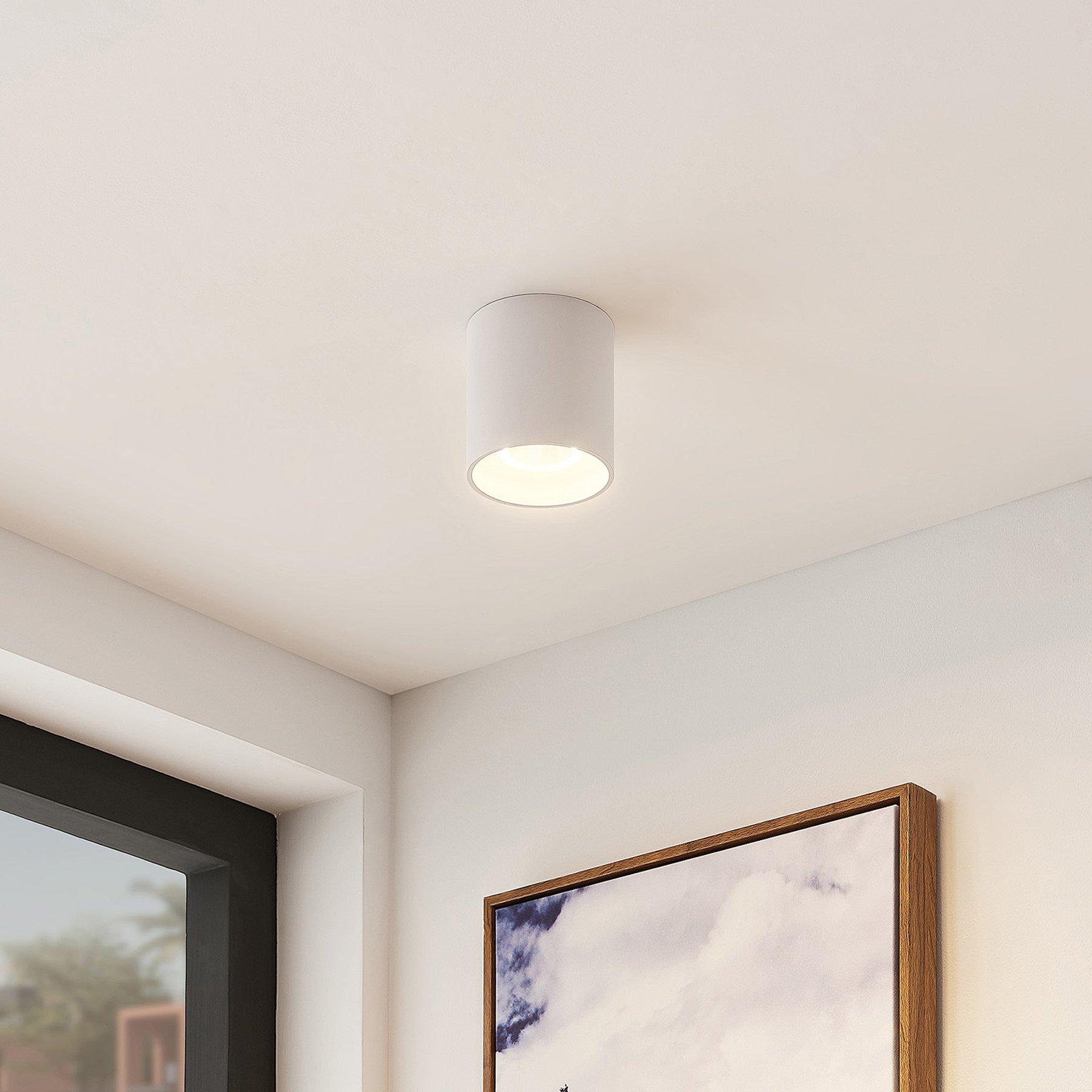 Arcchio Zaki LED-taklampe, rund, hvit