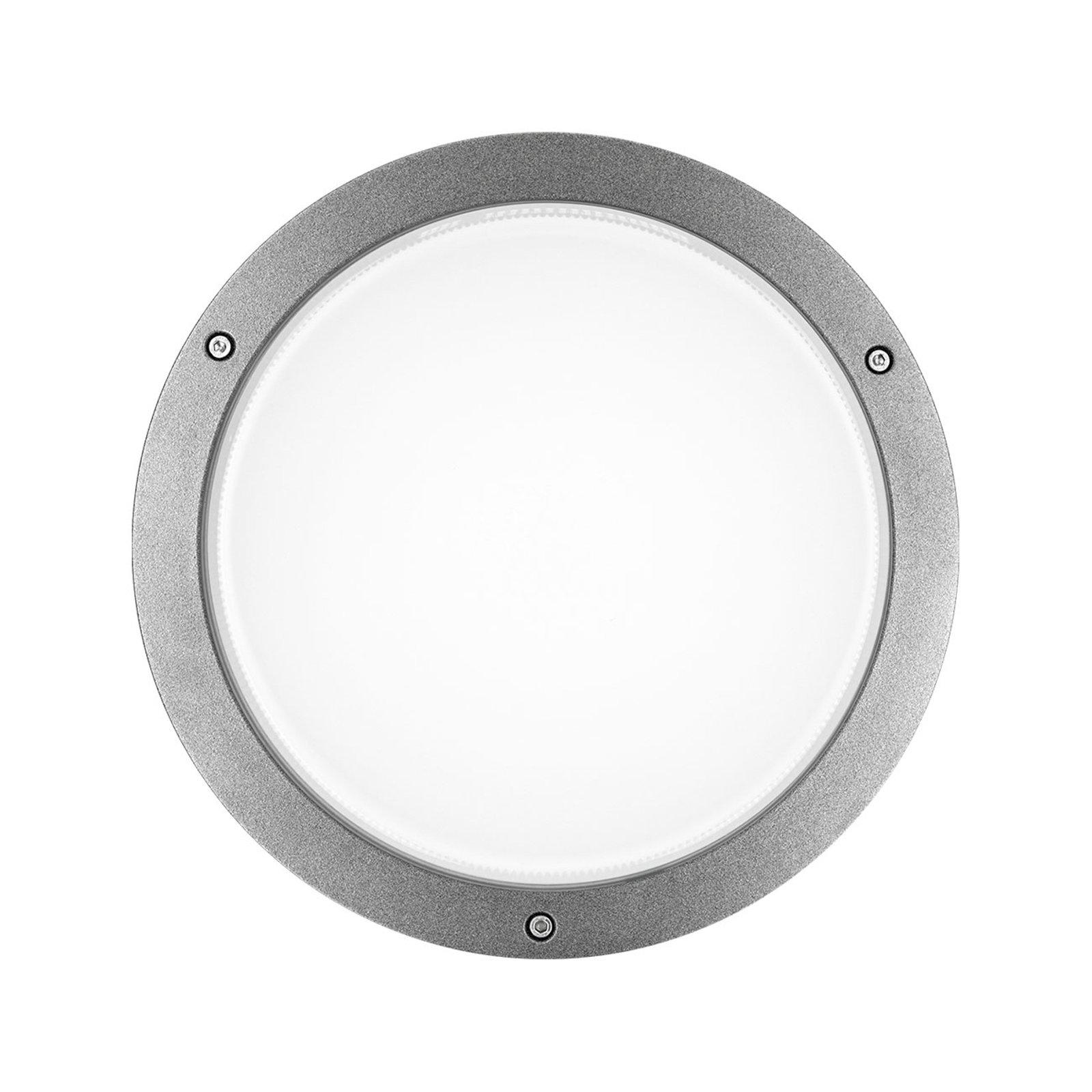 LED- vegglampe Bliz Round 30 30W, 3 000 K, grå
