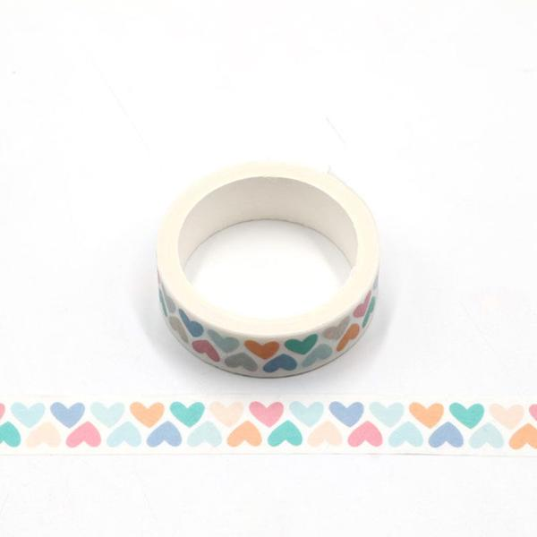 Rainbow Hearts Washi Tape