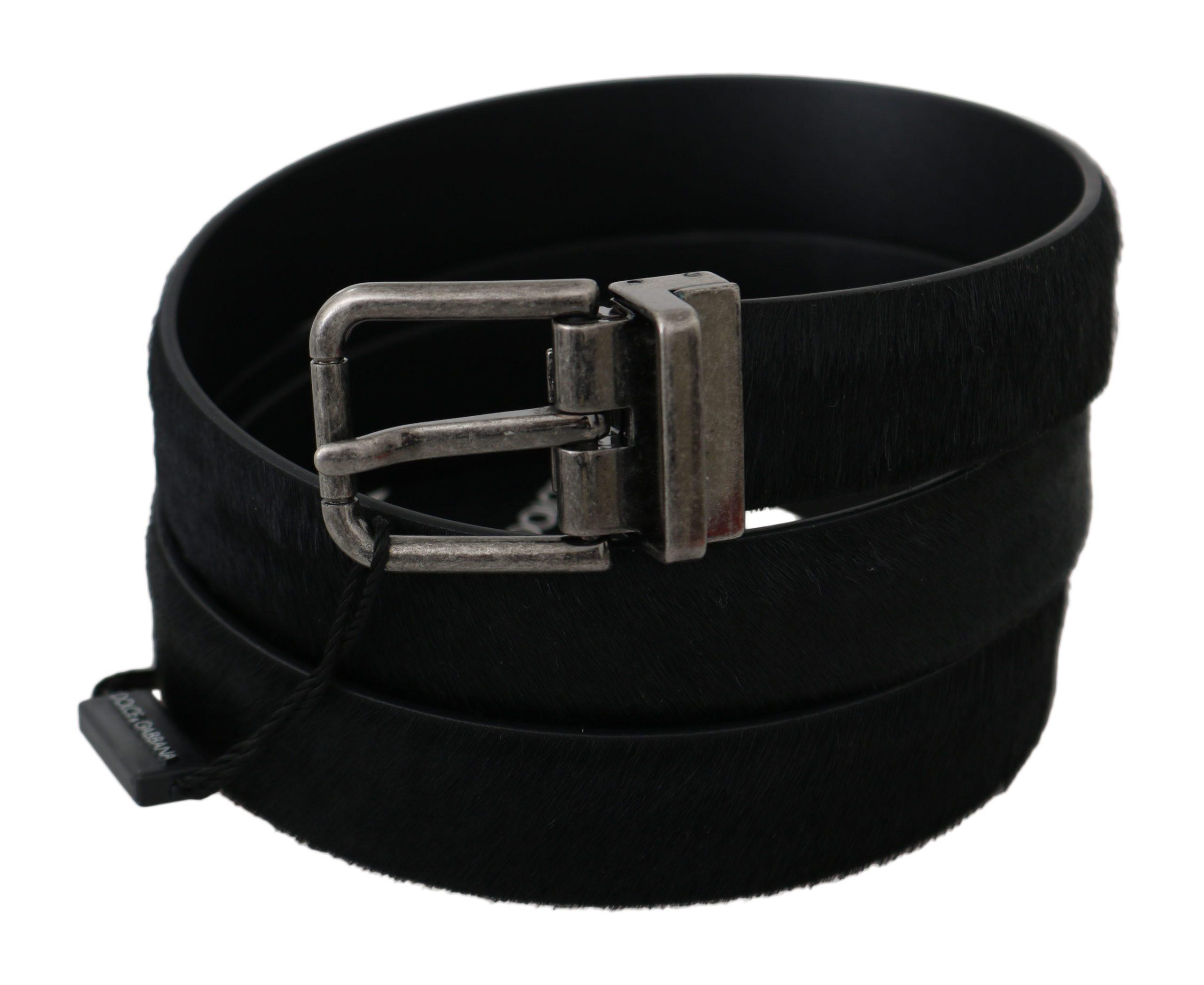 Dolce & Gabbana Men's Fur Leather Metal Buckle Belt Green BEL60330 - 110 cm / 44 Inches