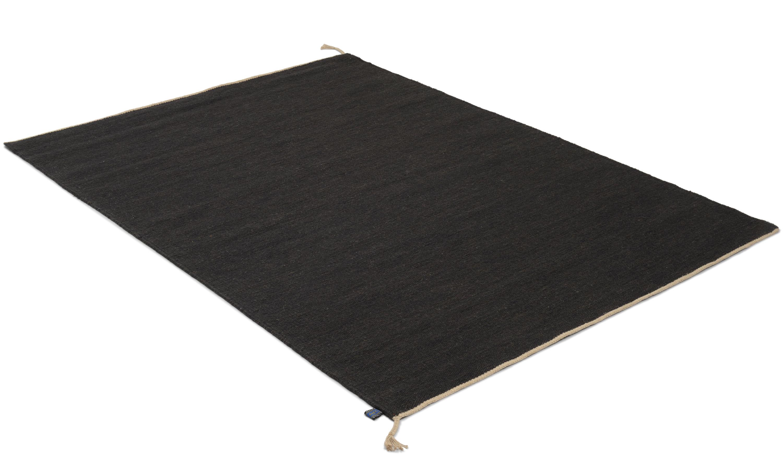 Sofiero svart - håndvevd ullteppe