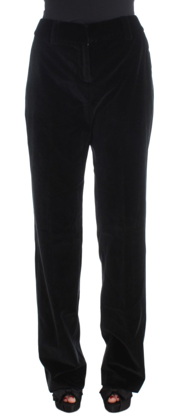 Ermanno Scervino Women's Straight Legs Trouser Black SIG30395 - IT42|M