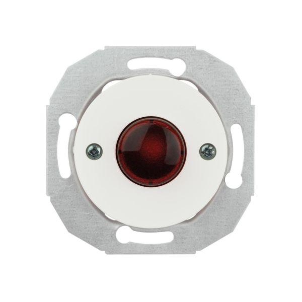 Schneider Electric WDE011080 Lyssignal rød linse Hvit