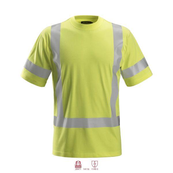 Snickers 2562 ProtecWork T-paita huomiotakki, keltainen XS