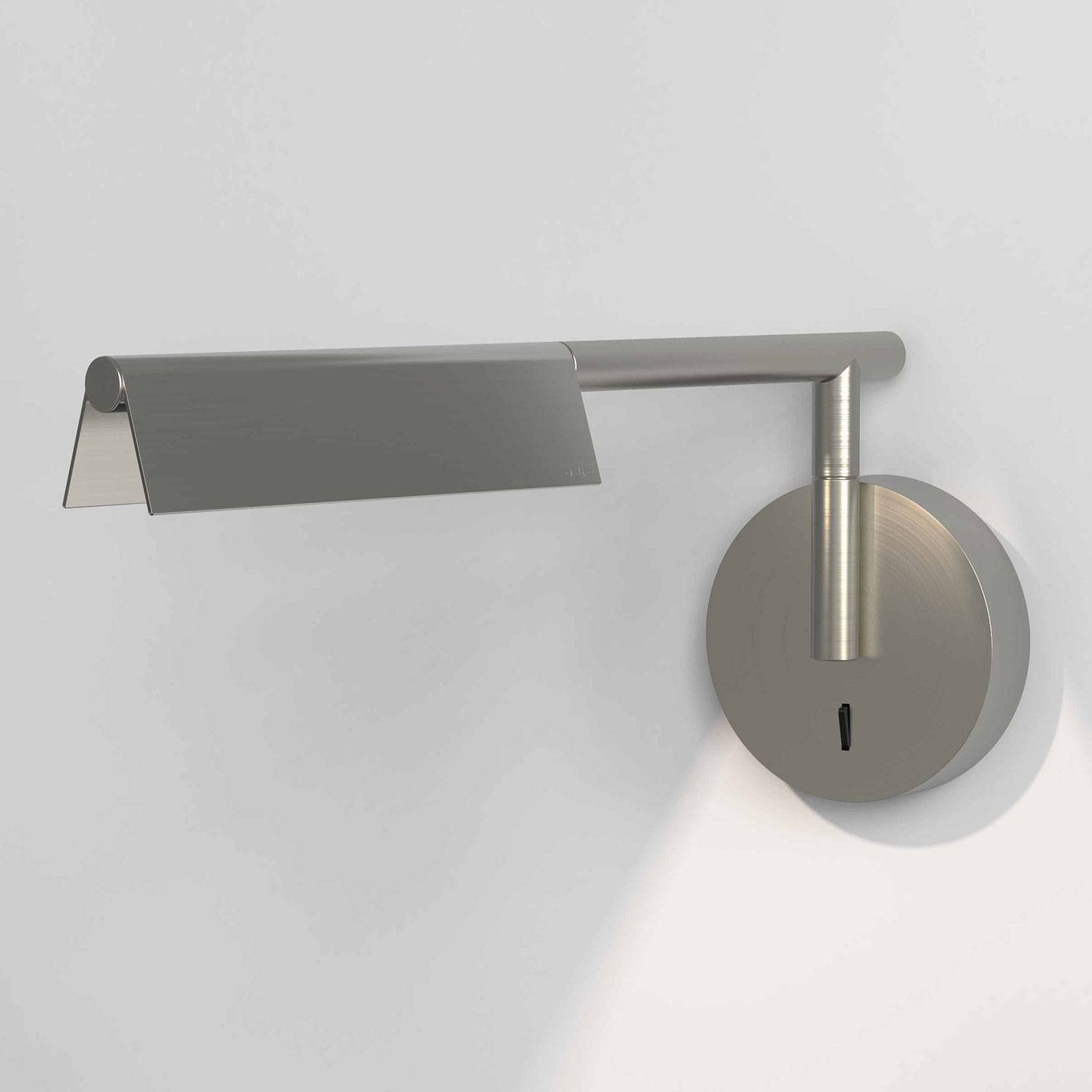 Astro Fold LED-vegglampe med bryter, matt nikkel