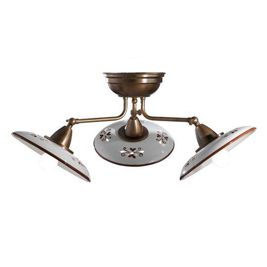 Bassano – 3-lamppuinen keraam. kattovalaisin rusk.
