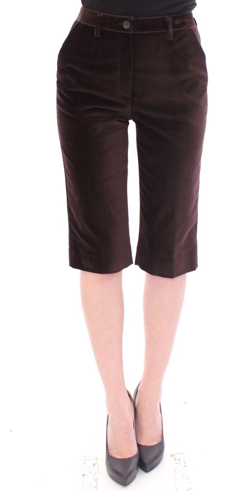 Dolce & Gabbana Women's Cotton Solid Pattern Shorts Brown GSS10076 - IT36