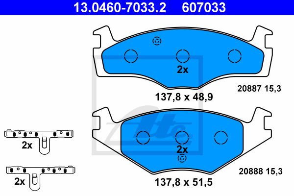 Jarrupalasarja, levyjarru ATE 13.0460-7033.2
